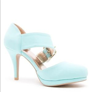 Qupid Heels in soft Blue